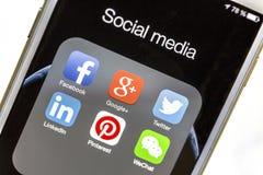Icone sociali di media Immagini Stock Libere da Diritti