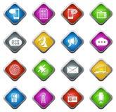 Icone sociali di media Fotografia Stock