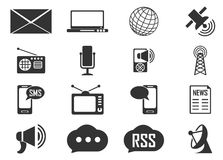 Icone sociali di media Immagine Stock Libera da Diritti