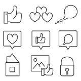 Icone sociali di media Fotografie Stock
