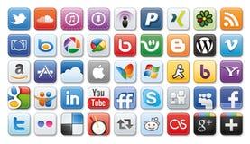 Icone sociali di /network di media Fotografia Stock Libera da Diritti