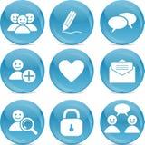 Icone sociali di Web di comunicazione Fotografia Stock