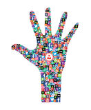Icone sociali di web di media Immagini Stock