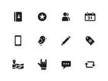 Icone sociali su fondo bianco. Fotografia Stock Libera da Diritti