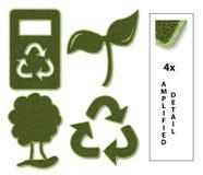 Icone sostenibili Immagine Stock