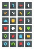 Icone sottili moderne di web Immagini Stock Libere da Diritti
