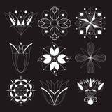 Icone sotto forma di fiori Immagine Stock
