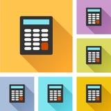 Icone stabilite del calcolatore royalty illustrazione gratis