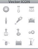 Icone stabilite dell'automobile di vettore. quadrato automatico di servizio Fotografia Stock Libera da Diritti