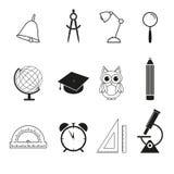 Icone stabilite della scuola royalty illustrazione gratis