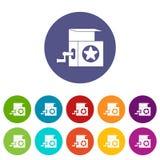 Icone stabilite di Music Box Fotografia Stock