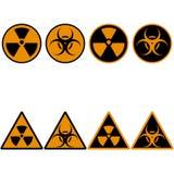 Icone stabilite di radiazione Immagine Stock Libera da Diritti