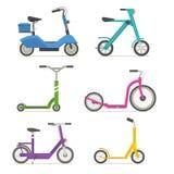 Icone stabilite di vettore del motorino del rullo Fotografie Stock