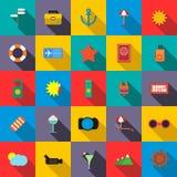 Icone stabilite di viaggio Fotografia Stock Libera da Diritti