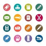 Icone stazionarie di colore Immagine Stock