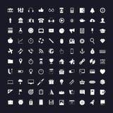 Icone su in bianco e nero Immagini Stock