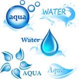 icone sul tema di acqua Immagini Stock Libere da Diritti
