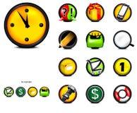 Icone sul Web page Fotografia Stock Libera da Diritti