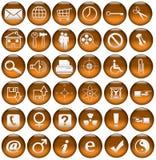 Icone/tasti di Web dell'arancia sanguigna Fotografia Stock Libera da Diritti