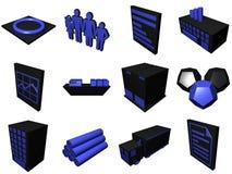 Icone trattate di logistica per lo schema della catena di rifornimento Immagine Stock
