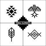 Icone tribali azteche degli elementi Fotografie Stock