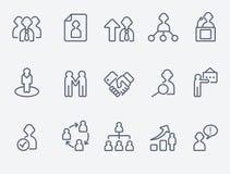 Icone umane della gestione Fotografia Stock