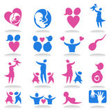 Icone un family3 Immagine Stock