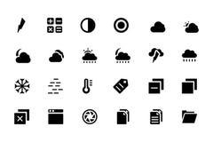 Icone universali 5 di vettore del cellulare e di web Fotografia Stock