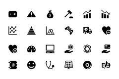 Icone universali 11 di vettore del cellulare e di web Immagini Stock Libere da Diritti