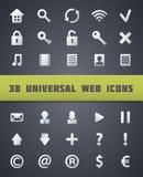 Icone universali di web. Immagini Stock Libere da Diritti