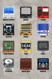 Icone v2.0 p2 del dispositivo mobile Fotografia Stock
