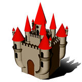 ICONE van het Kasteel van Halloween Royalty-vrije Stock Foto's