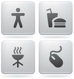 Icone varie del Internet Fotografia Stock