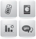 Icone varie del Internet Fotografie Stock