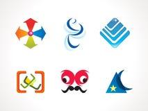 Icone variopinte astratte degli elementi di disegno Immagini Stock
