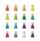Icone variopinte dell'utente dell'insieme 3d royalty illustrazione gratis