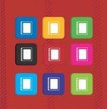 Icone variopinte della nota di testo prescritto Fotografia Stock Libera da Diritti