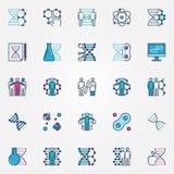 Icone variopinte di Biotech illustrazione di stock