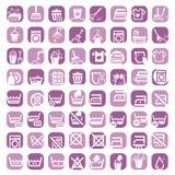 Grandi icone di pulizia di colore Fotografia Stock