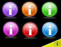 Icone variopinte di informazioni Fotografie Stock Libere da Diritti