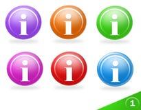Icone variopinte di informazioni Fotografia Stock