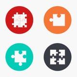Icone variopinte di puzzle moderno di vettore messe Fotografia Stock