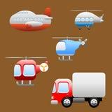 Icone veicoli/di trasporti Immagine Stock Libera da Diritti
