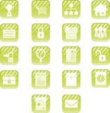 Icone verdi del Aqua Immagine Stock Libera da Diritti