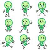 Icone verdi della lampadina royalty illustrazione gratis