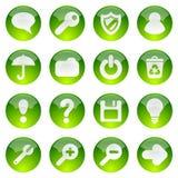 Icone verdi di Web Royalty Illustrazione gratis