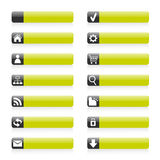 Icone verdi di Web Fotografie Stock Libere da Diritti