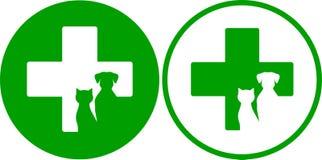 Icone veterinarie verdi Fotografia Stock Libera da Diritti