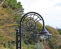 The iconic ammonite shaped street lamps at Lyme Regis in Dorset royalty free stock photos