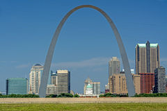 Iconic Arch in St. Loius with city Stock Photography